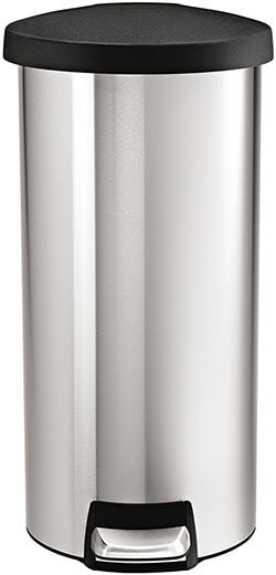 Simplehuman Round Stainless Steel Trash Can