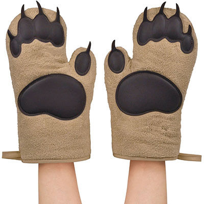 Bear Hands 2 Oven Mitts by Fred & Friends