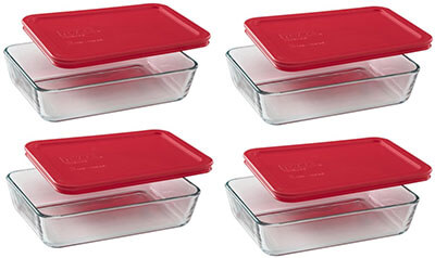 Pyrex 3-cup 4 Rectangular Food Storage Containers
