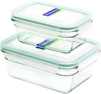 GlassLock Rectangle 4-Piece Container Set