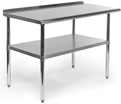 Gridmann Stainless Steel Kitchen Cart with Backsplash