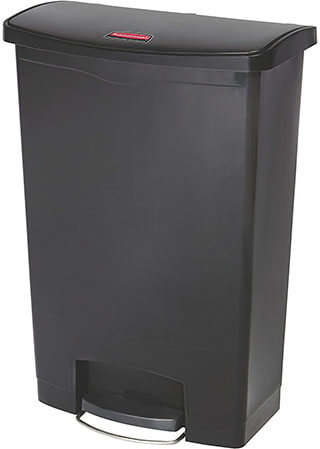 Rubbermaid Commercial Products Slim Jim Front Step Trash Can