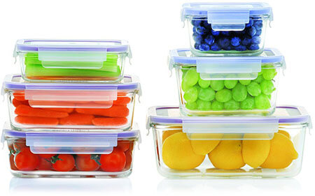 Popit! Glass Set Food Storage Containers