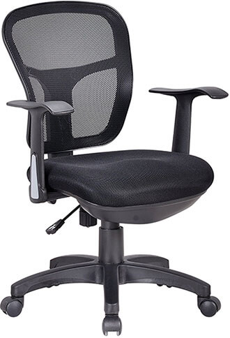 Office Factor Ergonomic Desk Chair with Black mesh