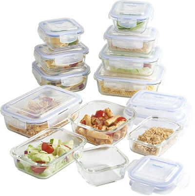VonShef Glass Storage Containers