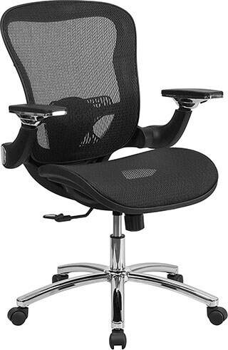 Flash Furniture Mid-Back and Black Mesh Executive Office Swivel Chair