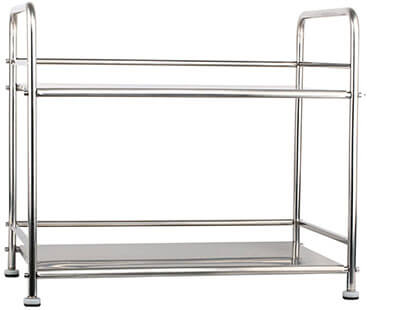 Esy-Life Portable Silver Stainless Steel Kitchen Trolley
