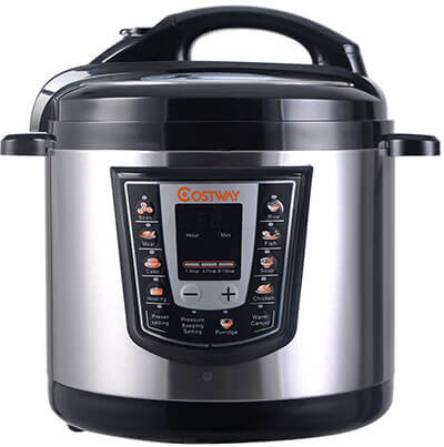 Giantex 6-Quart Brushed Stainless Steel Pressure Cooker
