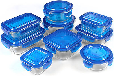 Utopia Kitchen 18-Piece Glass Storage Containers