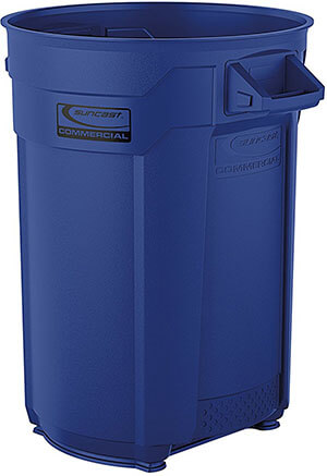 Suncast Commercial Utility Blue Trash Can