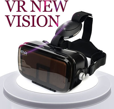 ETVR 3D Virtual Reality Headset, Immersive Large Screen, Lightweight
