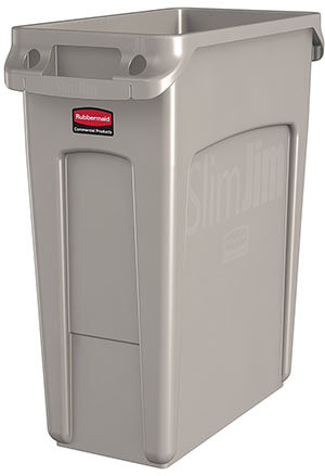 Rubbermaid Commercial Products Vented Slim Jim Trash Can
