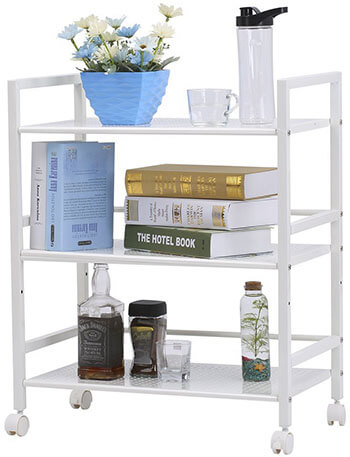 LANGRIA Wire Mesh Rolling Kitchen Storage Cart