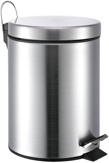 5-Litre Round Stainless Steel Trash Can