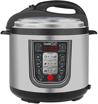 GeekChef YBW60P-1 11-in-1 Multi-Functional Electric Programmable Pressure Cooker