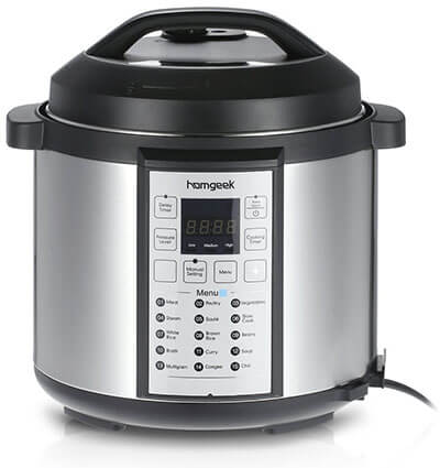 Homegeek Professional Electric Pressure Cooker
