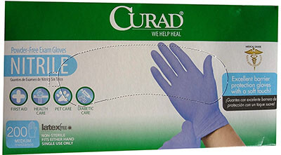 Curad/Medline Nitrile Medical Exam Glove