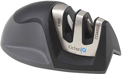 Smith's KitchenIQ 50009 Black Edge Grip Knife Sharpener