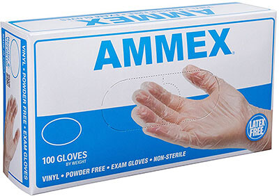 Ammex VPF62100-BX Vinyl Medical Gloves