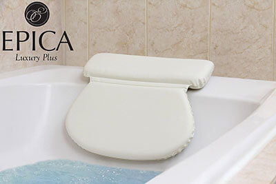 Epica Luxury Spa Bath Pillow, Firm Gripping Suction cups