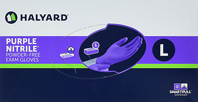 Haylard Health Purple Nitrile Nurse Gloves for Exam