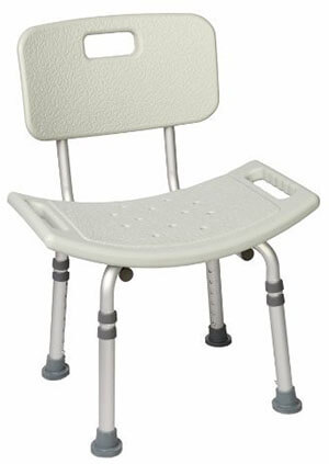 Healthline Trading Bath Bench, Adjustable Back