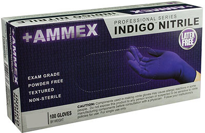 Ammex AINPF42100-BX Medical Nitrile Gloves
