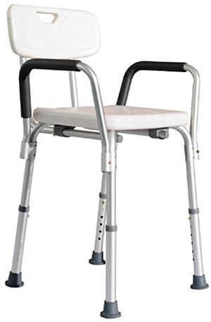 HomCom Medical Shower Seat, Arm, and Backrest, Adjustable