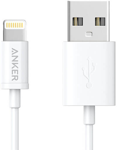 Anker Premium White iPhone Cable