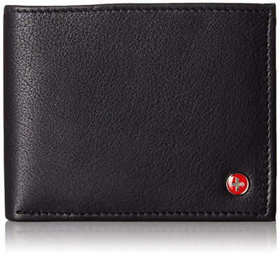 Alpine Swiss Flipout ID Trifold Hybrid Men's Leather Wallets