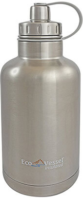 Eco Vessel The BOSS Silver Express Stainless Water Bottle