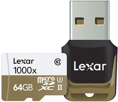 Lexar Professional 1000x microSDXC 64GB UHS-II/U3