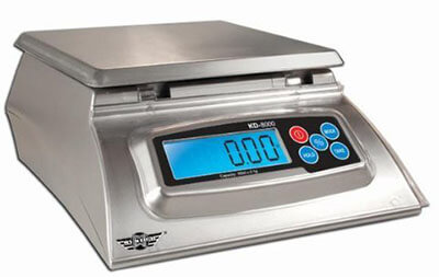KD8000 Bakers Math Silver Digital Food Scale by My Weight