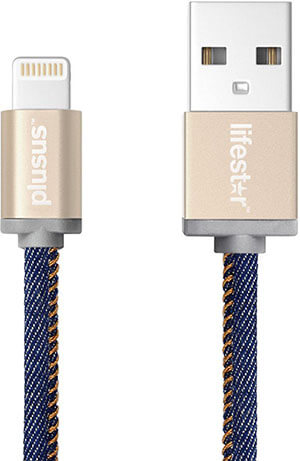 Plusus LifeStar Cross Turquoise Apple Lightning Cable
