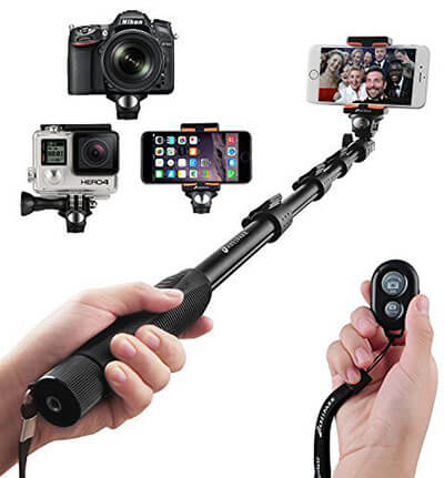 Arespark Self-Portrait Monopod Bluetooth Selfie Stick