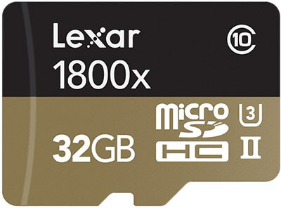 Lexar Professional microSDHC UHS-II with USB 3.0 Reader Flash Memory Card