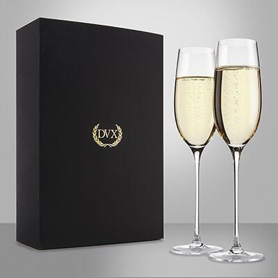 DUX Excelsior Handmade Crystal Champagne Flutes