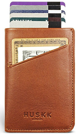 Huskk Unique 3-Pocket Slim Men's Leather Wallets