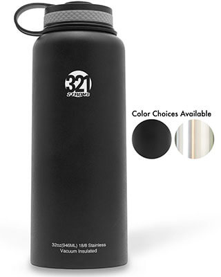 Stainless Water Bottle by 321 Strong