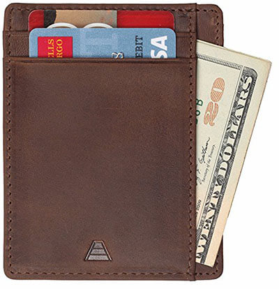 Andar Full Grain Leather Credit Card Wallet