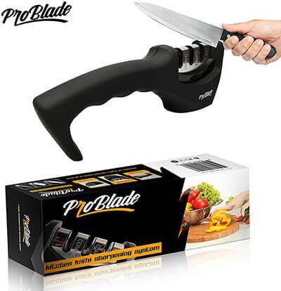 Pro Blade 3-Stage Kitchen Knife Sharpener