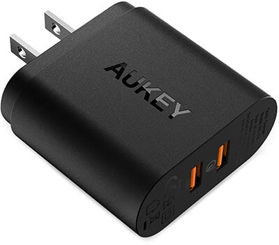 Aukey USB Phone Charger for Smartphones