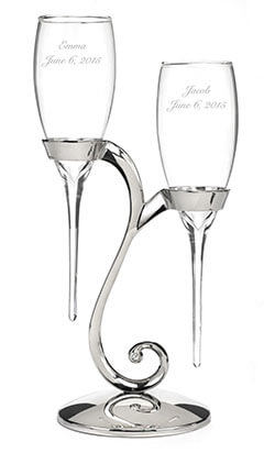Canopy Street Personalized Raindrop Champagne Flutes