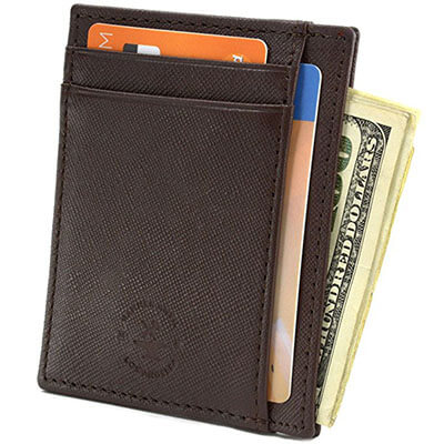 Hammer Anvil RFID Minimalist Slim Pocket Mens Leather Wallets