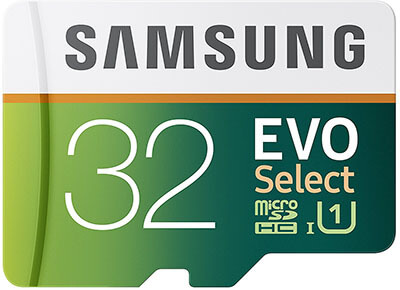 Samsung EVO Select Micro SDHC Card-32GB, 80MB/s