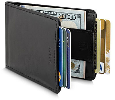 Huskk Men's Bifold Ultra Slim Credit Card Wallet