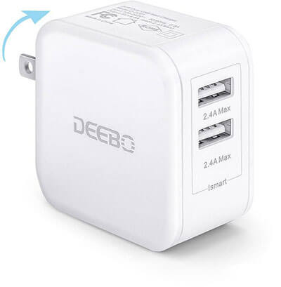 Deebo 4.8A Dual USB Wall Adapter Charger