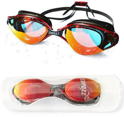 Copozz Mirrored Clear Swimming Glasses