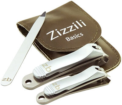 Zizzili Basics - Stainless Steel 3 Piece Nail Clipper Set