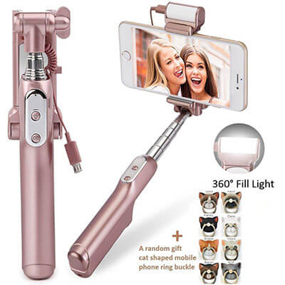 AIZOL Xiaoou Rose Gold Mini Selfie Stick